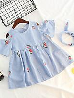 cheap -Toddler Girls' Active Fruit Short Sleeve Dress