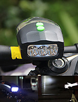 cheap -Bike Lights LED Cycling Portable Waterproof Lightweight Quick Release Li-ion 200lm Lumens White Camping / Hiking / Caving Cycling / Bike
