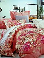 Недорогие -Пододеяльник наборы Цветочный принт Полиэстер / Хлопок 100% хлопок Активный краситель 4 предмета