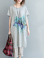 economico -T-shirt Per donna Fantasia geometrica Cotone