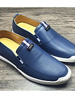 cheap -Men's Shoes Cowhide Spring Comfort Loafers & Slip-Ons Black / Blue