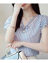cheap -Women's Blouse - Striped V Neck