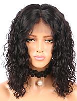 abordables -Cheveux Rémy Perruque Cheveux Brésiliens Bouclé Court Bob 130% Densité Court 8-14cm Femme Perruque Naturelle Dentelle