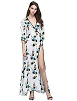 cheap -SHE IN SUN Women's Chinoiserie Flare Sleeve Shift Dress - Solid Colored Split / Print