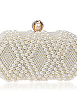 cheap -Women's Bags Pearl / Rhinestones Evening Bag Crystals / Pearls for Event / Party / Birthday Champagne / White / Beige