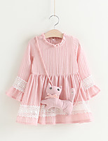 cheap -Kids / Toddler Girls' Solid Colored 3/4 Length Sleeve Dress