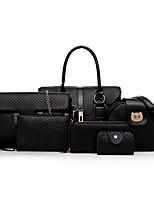 cheap -Women's Bags PU Bag Set 6 Pieces Purse Set Zipper for Outdoor Black / Camel / Light Gray
