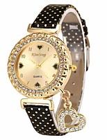 Недорогие -Жен. Наручные часы Китайский Секундомер Кожа Группа Elegant / Мода Черный / Белый / Синий