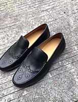 abordables -Homme Chaussures Cuir Cuir Nappa Automne Confort Mocassins et Chaussons+D6148 Noir Marron