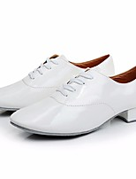 cheap -Boys' Modern Shoes Patent Leather Oxford Performance Low Heel Customizable Dance Shoes White / Black