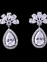 cheap -Women's Cubic Zirconia Stud Earrings / Drop Earrings - Fashion, Elegant White For Wedding / Evening Party