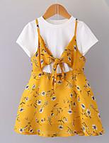 cheap -Kids / Toddler Girls' Floral Short Sleeve Dress