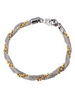 abordables -Homme 1 Chaînes & Bracelets - Mode Twist Circle Argent Bracelet Pour Quotidien