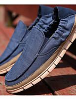 Недорогие -Муж. обувь Ткань Лето Удобная обувь Мокасины и Свитер Темно-синий / Светло-серый / Светло-синий