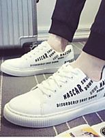 cheap -Men's Shoes Faux Leather Spring Comfort Sneakers White / Black