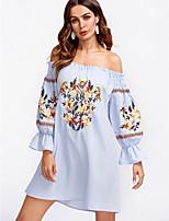 cheap -TS - Dreamy Land Women's cotton shift dress mini boat neck