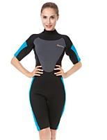 cheap -Women's Shorty Wetsuit 3mm CR Neoprene Diving Suit Anatomic Design Half Sleeve Patchwork Summer