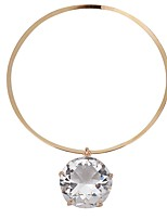 cheap -Women's Choker Necklace  -  Simple Gold, Silver 41 cm Necklace For Daily, Ceremony