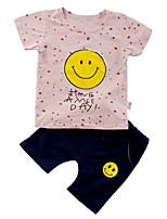 cheap -Kids / Toddler Boys' Polka Dot / Print Short Sleeve Clothing Set