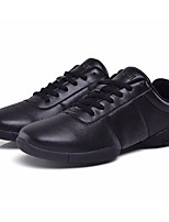 cheap -Women's Dance Sneakers PU Sneaker Low Heel Dance Shoes White / Black / Performance / Practice