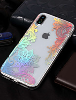 abordables -Funda Para Apple iPhone X / iPhone 8 IMD / Diseños Funda Trasera Impresión de encaje Suave TPU para iPhone X / iPhone 8 Plus / iPhone 8