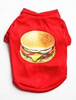 abordables -Chiens / Chats / Animaux de Compagnie Gilet Vêtements pour Chien Couleur Pleine / simple / Avec motifs Rouge Coton Costume Pour les