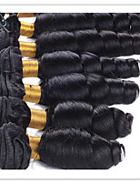 cheap -Indian Hair / Loose Wave Wavy Natural Color Hair Weaves / Extension / Human Hair Extensions 6 Bundles Human Hair Weaves Soft / Hot Sale / 100% Virgin Natural Black Human Hair Extensions Women's
