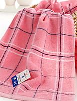 abordables -Qualité supérieure Serviette, Ecossais / à Carreaux Polyester / Coton / 100% Coton 1 pcs