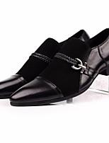 Недорогие -Муж. обувь Наппа Leather / Кожа Осень Удобная обувь Мокасины и Свитер Черный