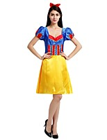 cheap -Princess Outfits Unisex Halloween Carnival Day of the Dead Masquerade Festival / Holiday Halloween Costumes Yellow Solid Colored Halloween