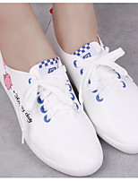cheap -Women's Shoes PU Spring Comfort Sneakers Flat Heel for Casual Black / White White / Blue White / Green