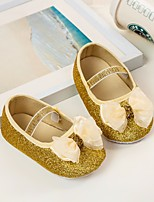 cheap -Girls' Shoes Faux Leather Spring Comfort / First Walkers Flats for Gold / Silver