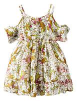 economico -Bambino (1-4 anni) Da ragazza Fantasia floreale Manica corta Vestito