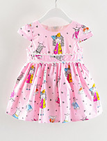 abordables -Enfants Fille Galaxie Manches Courtes Robe