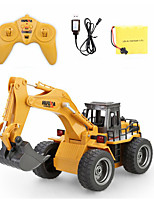 cheap -RC Car 1530 6CH 2.4G Excavator 1:18 Brush Electric 40 km/h KM/H