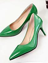 cheap -Women's Shoes PU(Polyurethane) Spring & Summer Comfort Heels Stiletto Heel Red / Green / Pink