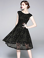 cheap -SHIHUATANG Women's Street chic / Sophisticated A Line Dress - Floral Lace