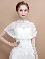 cheap -Sleeveless Lace Wedding / Party / Evening Women's Wrap With Ruffle Capelets