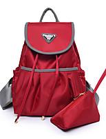 cheap -Women's Bags Nylon Bag Set 2 Pieces Purse Set Tiered / Ruffles for Shopping Black / Red / Purple