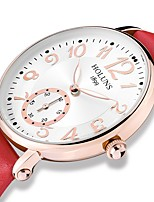 cheap -Women's Wrist Watch Chinese Chronograph / Large Dial PU Band Luxury / Bangle White / Blue / Red