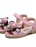 cheap -Girls' Shoes Leatherette Summer First Walkers / Flower Girl Shoes Sandals Bowknot / Magic Tape for Baby Pink / Party & Evening