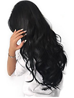 cheap -Remy Human Hair Wig Brazilian Hair Wavy 130% Density Long 8-14cm Women's Human Hair Lace Wig