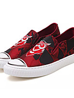 cheap -Men's Shoes Fabric / PU Fall Comfort Sneakers Black / Red