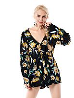 abordables -Mujer Blusa, Escote en Pico Arco iris