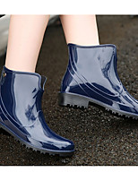 cheap -Women's Shoes PVC Spring & Summer Rain Boots Boots Low Heel Booties / Ankle Boots for Blue / Wine / Leopard
