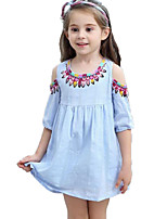 cheap -Kids / Toddler Girls' Jacquard Short Sleeve Dress