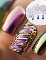 abordables -4pcs Poudre de paillettes Effet miroir Nail Glitter Brillant Mariage Soirée / Fête Nail Art Design