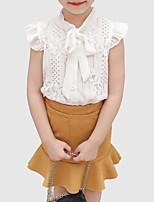 preiswerte -Kinder Mädchen Solide Ärmellos Kleidungs Set