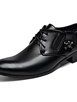 Недорогие -Муж. обувь Искусственное волокно Лето Удобная обувь Туфли на шнуровке Черный / Официальная обувь