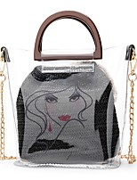 cheap -Women's Bags PVC Bag Set Hollow-out for Outdoor Blue / Black / Khaki